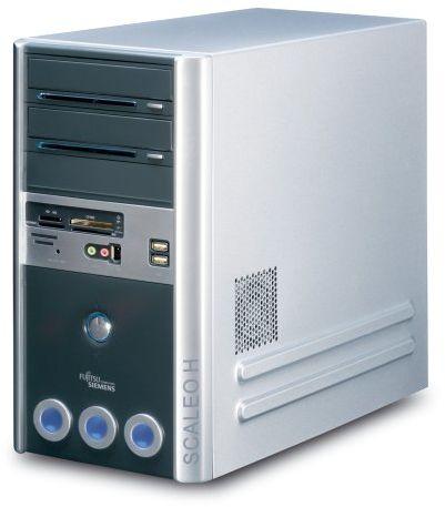 Fujitsu Scaleo Hid komputer stacjonarny (Intel Core 2 Duo E6300, 2 GB RAM, 250 GB HDD, DVD+-RW DL, ATI X1650PRO, XP Media Center z pilotem zdalnego sterowania)