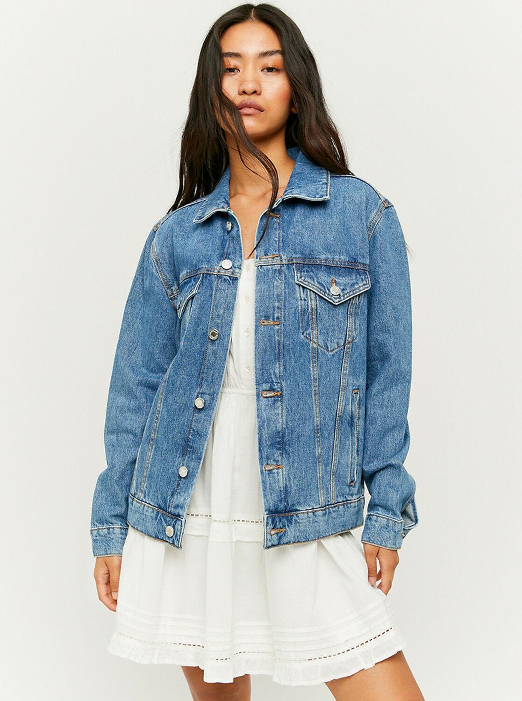 Tally Weijl niebieski dżinsowa kurtka