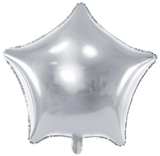 Balon foliowy srebrna Gwiazdka 48cm 1 sztuka FB3M-018