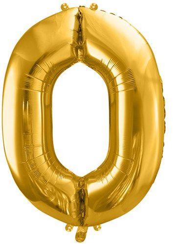 Balon foliowy 0 złoty 86cm 1szt FB1M-0-019