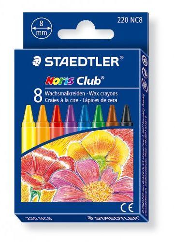 Kredki woskowe STAEDTLER Noris Club (8 kolorów ) 220 NC8