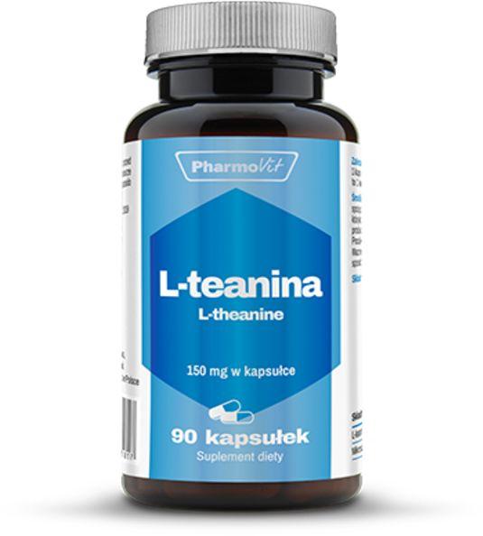PHARMOVIT L-Theanine (L-Teanina - Wspomaga Uczucie Relaksu) 90 kapsułek