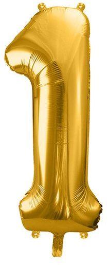 Balon foliowy 1 złoty 86cm 1szt FB1M-1-019