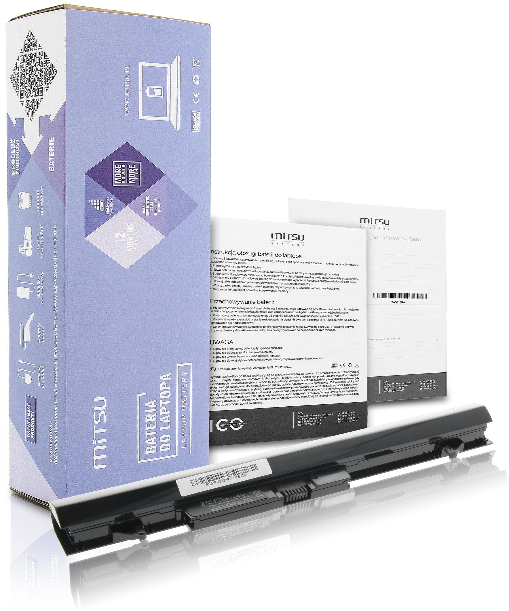 Bateria Mitsu do HP ProBook 430 G1, 430 G2