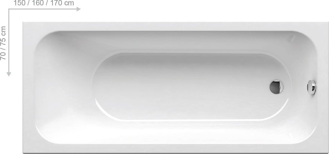 Ravak wanna prostokątna Chrome 150x70cm C721000000