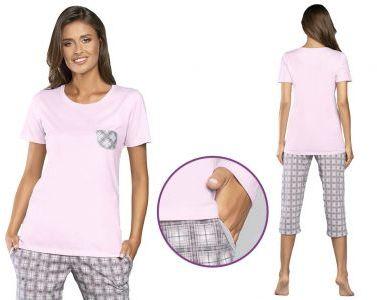 Piżama damska MALWINA: róż