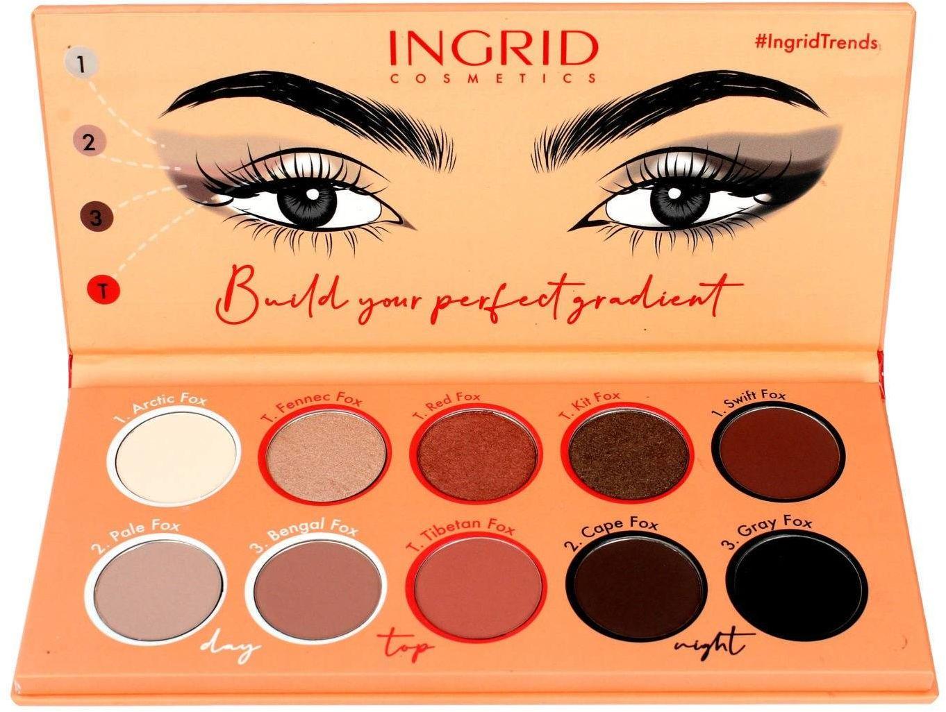 Ingrid Foxy Eyes Paleta cieni do powiek (10 odcieni) 12g