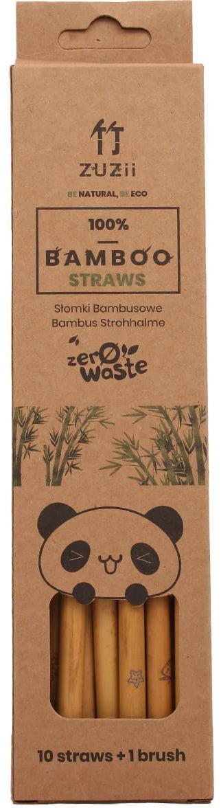 Słomki bambusowe - Zuzii 10szt + szczoteczka