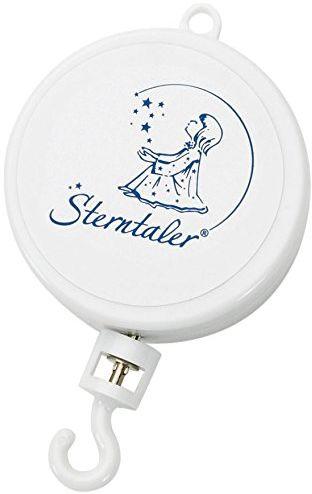 Sterntaler Mechanizm muzyczny Sleep My Little Prince, odpowiedni od narodzin, telefon komórkowy, 10 x 7 x 2,2 cm, biały