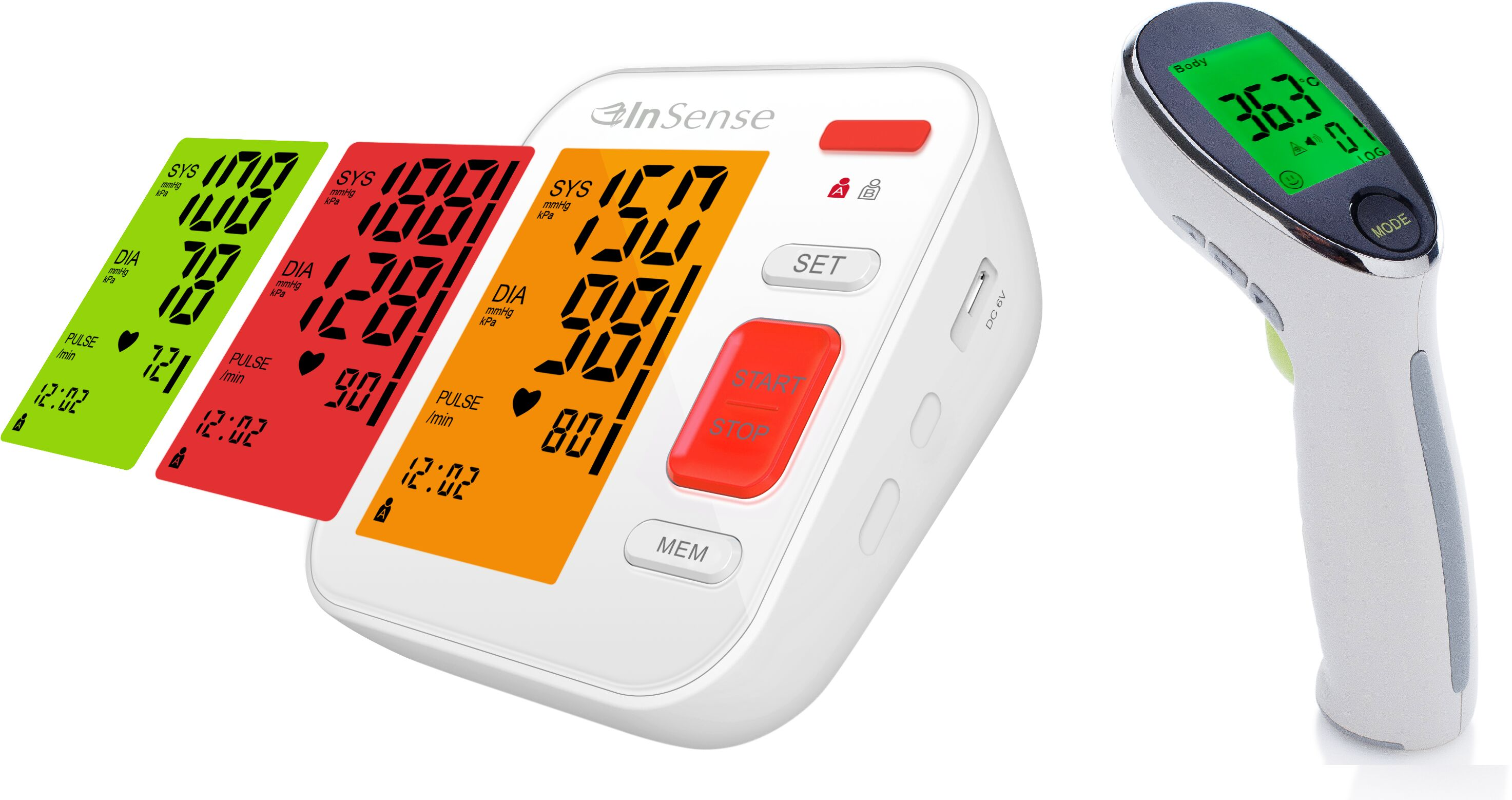 Inteligentny pomiar temperatury i ciśnienia InSense REDy i InSense Q Ciśnieniomierz i termometr bezdotykowy InSense - tylko rzetelne pomiary