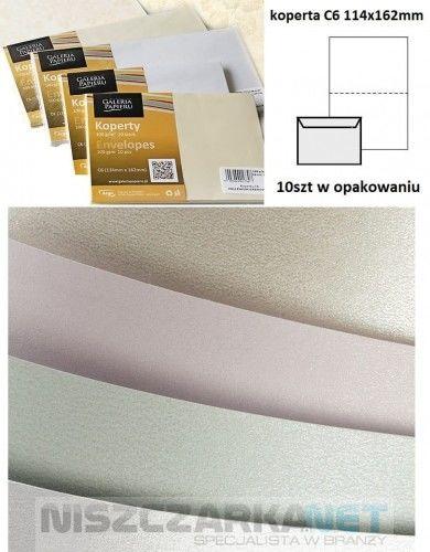 Koperta / koperty ozdobne C6 - MILLENIUM BIAŁY opk 10szt 120g/m2