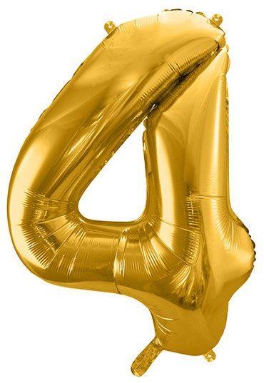 Balon foliowy 4 złoty 86cm 1szt FB1M-4-019