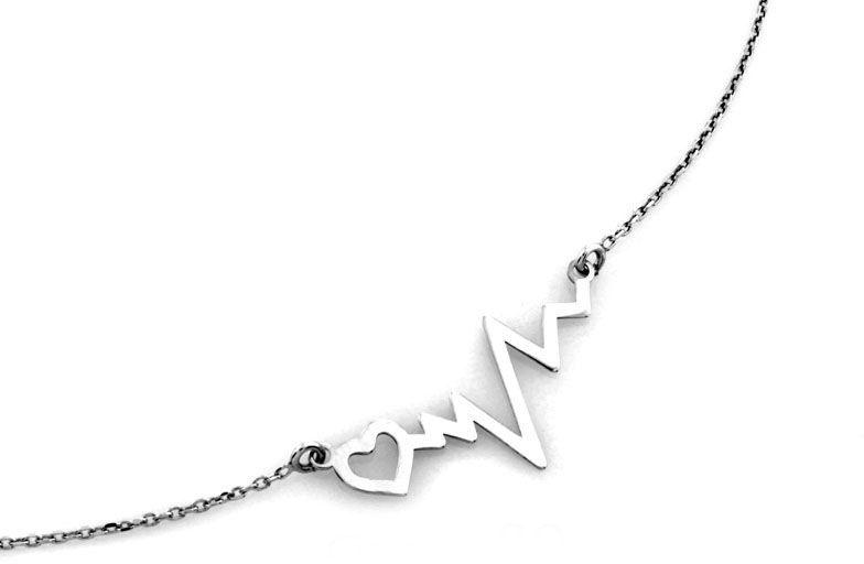 Naszyjnik srebrny 925 z linią życia