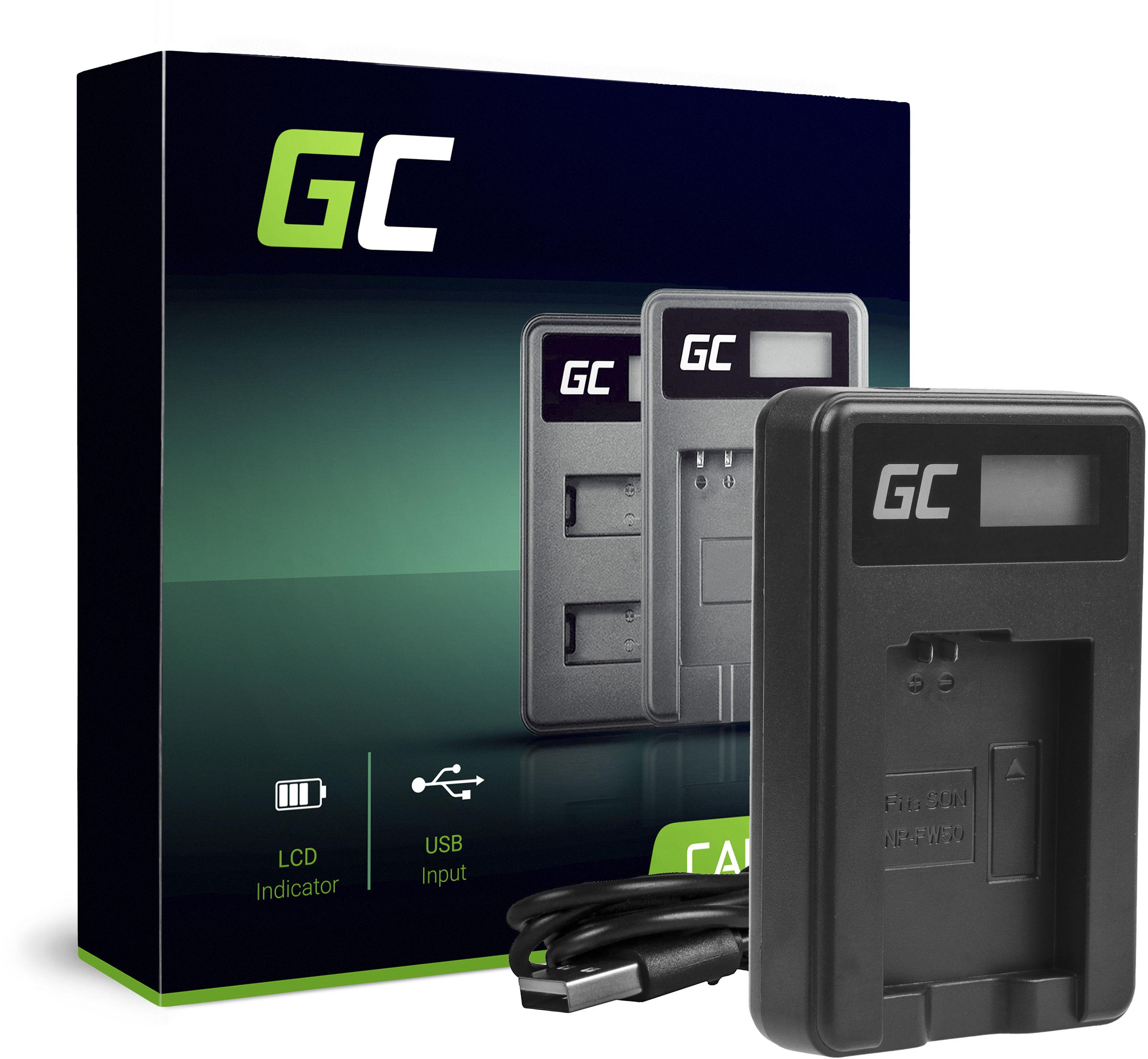 Ładowarka BC-TRW Green Cell  do Sony NP-FW50, RX10 III A7 II A7R II A7S II A3000 A5000 A6000 A6500 (8.4V 5W 0.6A)