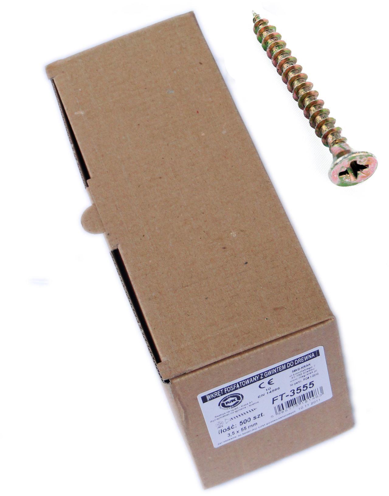 Wkręt hartowany konfekcja średnia 5,0x50mm