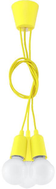 Lampa wisząca DIEGO 3 żółta - Sollux