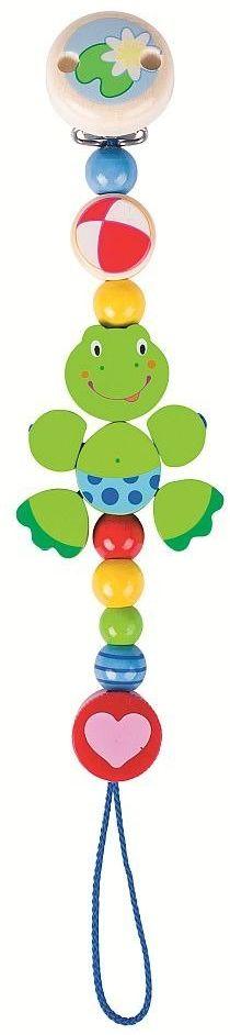 Łańcuszek do smoczka, Zielona Żabka, Heimess - zabawki dla niemowlaków