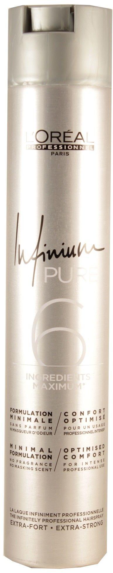 LOréal Professionnel Infinium Pure hypoalergiczny lakier do włosów bardzo mocno utrwalający bezzapachowy 500 ml