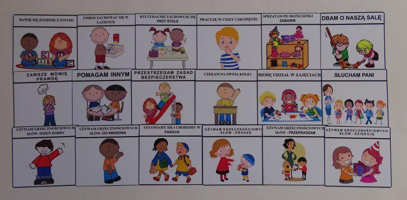 Kodeks przedszkolaka- obrazki