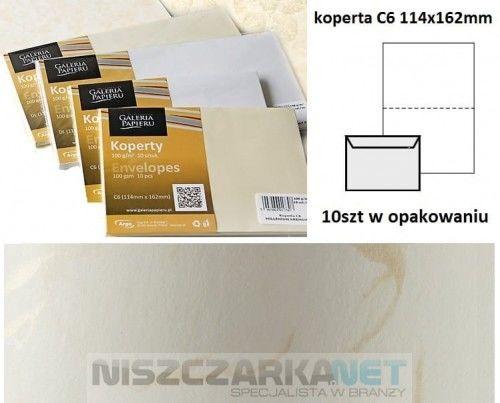 Koperta / koperty ozdobne C6 - WIATR BIAŁY opk 10szt 120g/m2