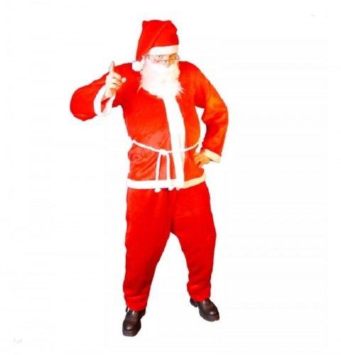 Strój dla dorosłych Święty Mikołaj Lux, pluszowy
