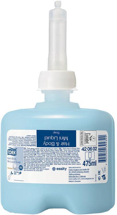 Mydło w płynie mini Tork do włosów i ciała 475 ml