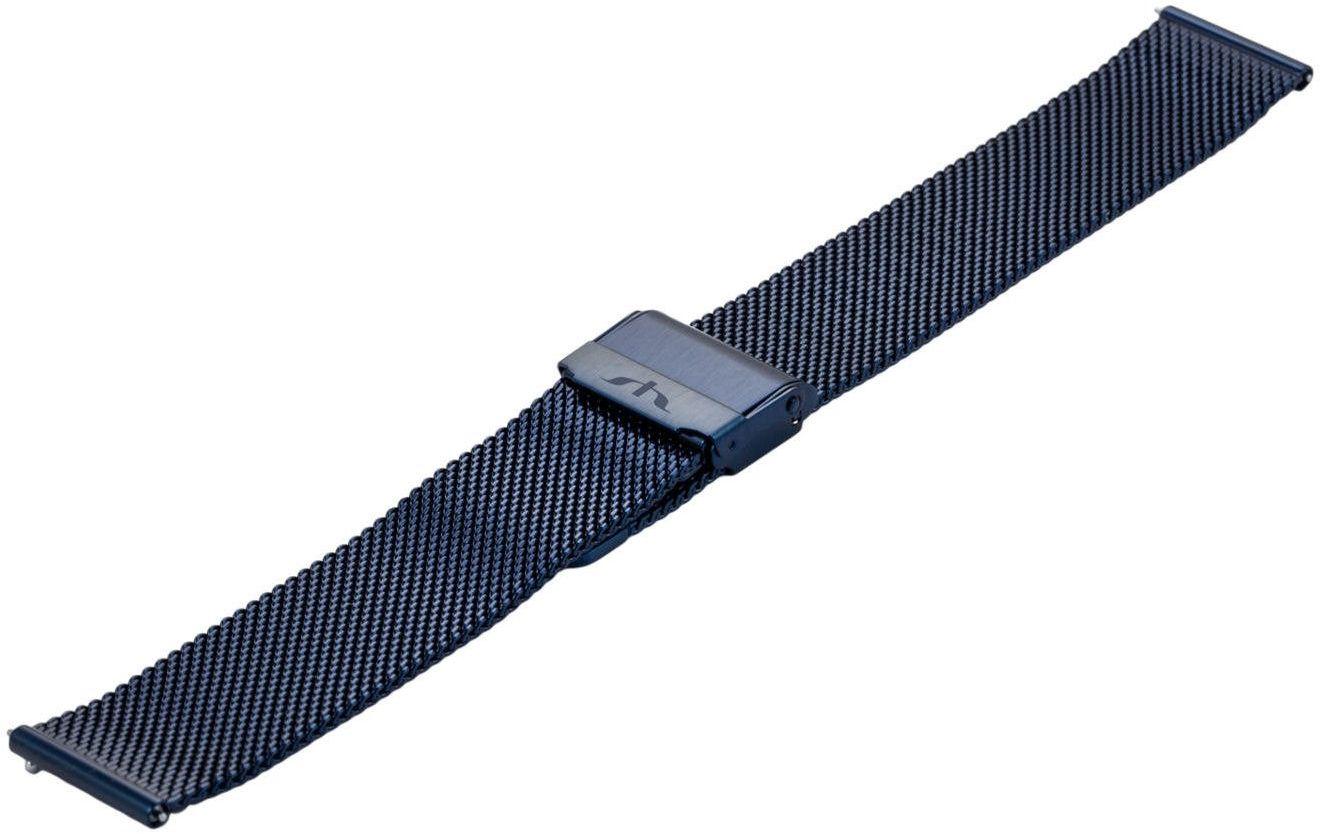 Bransoleta stalowa do zegarka 20 mm Bisset BM-101/20 Blue