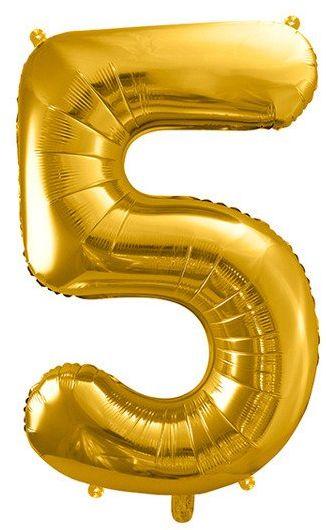 Balon foliowy 5 złoty 86cm 1szt FB1M-5-019