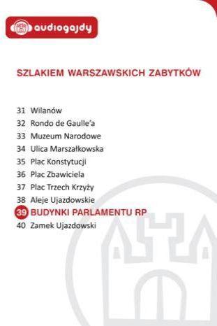Budynki Parlamentu RP. Szlakiem warszawskich zabytków - Ebook.