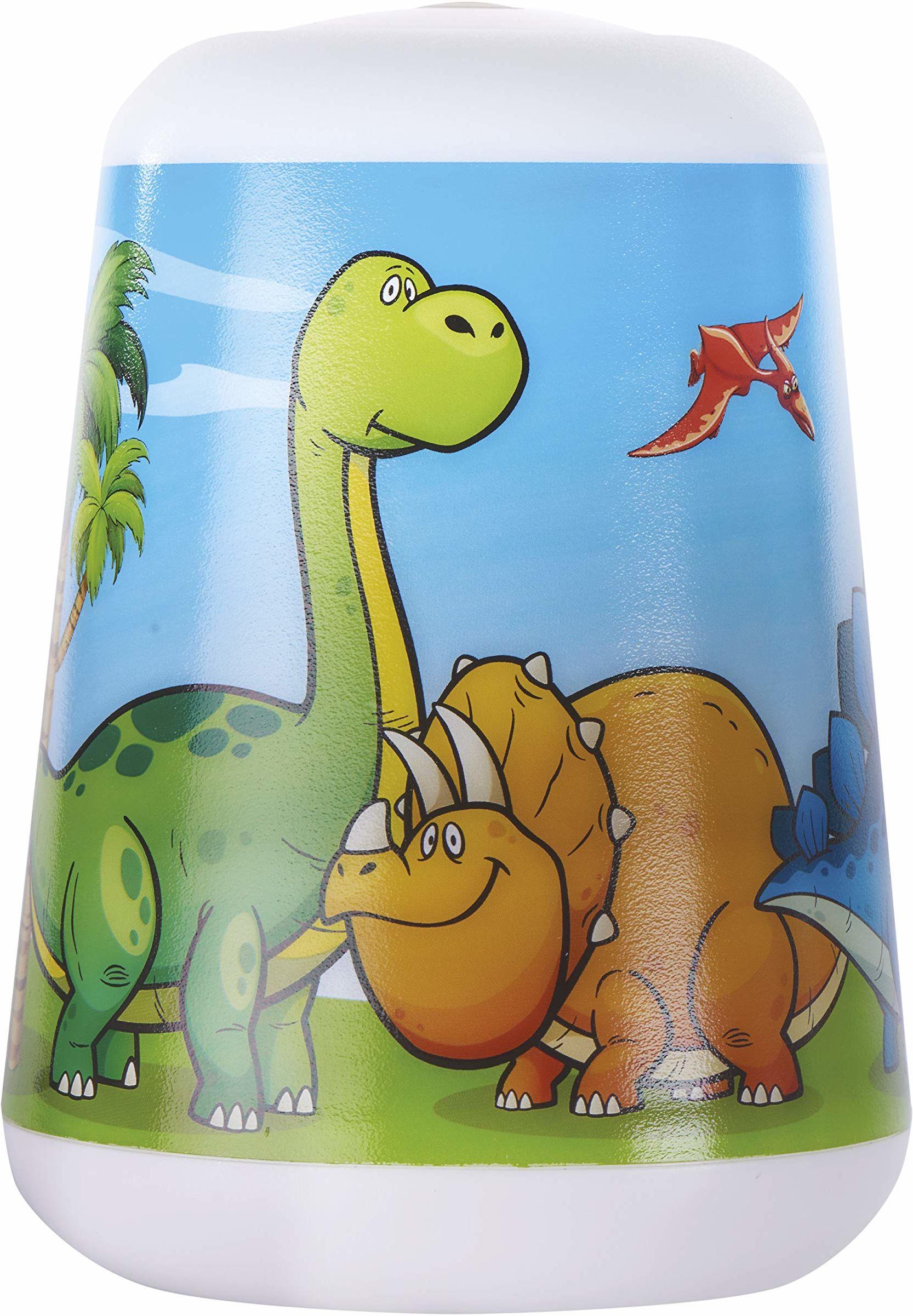 EMOS Dziecięca lampa stołowa i ręczna z motywem dinozaura i timerem, lampka nocna dinozaurów, lampka nocna, lampa dla dzieci, latarka, lampa biurkowa
