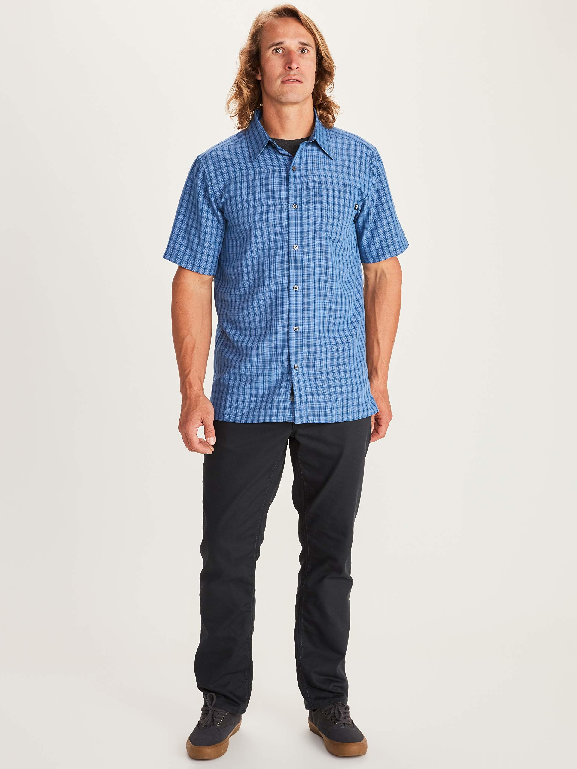 Marmot Eldridge męska koszula z krótkim rękawem niebieski Varsity Blue S