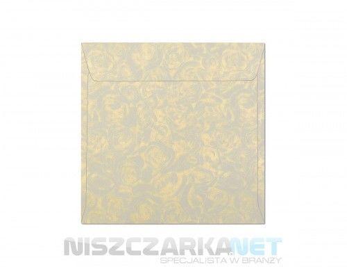 Koperta / koperty ozdobne kwadrat 158x158mm KW158 RÓŻE KREMOWY opk 10szt 120g/m2