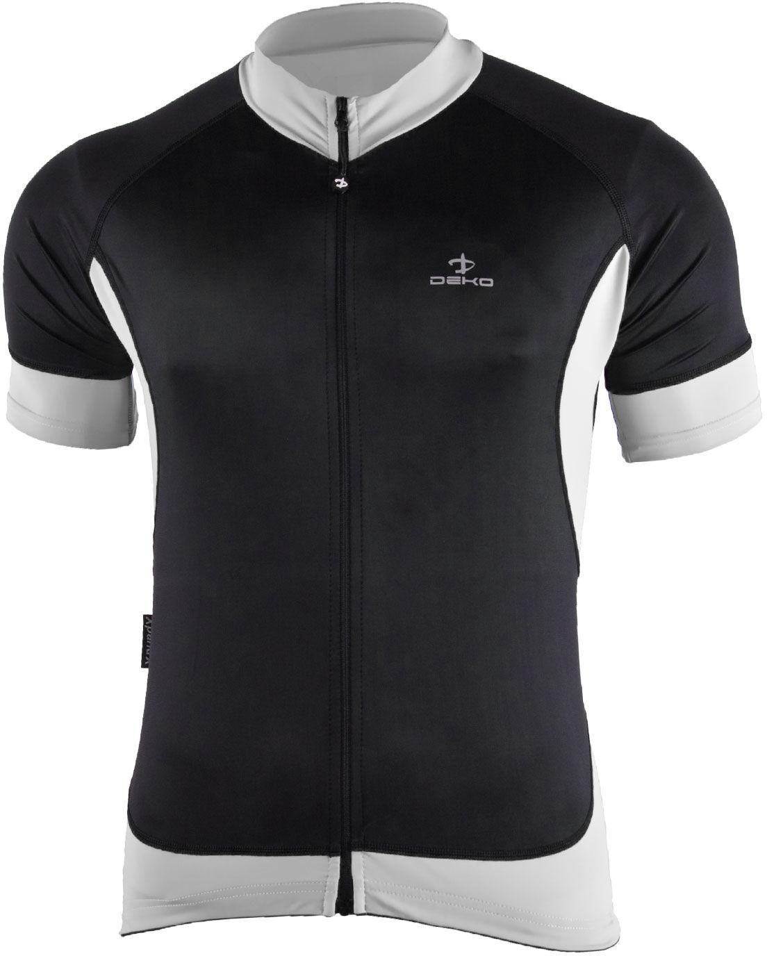 DEKO BURAQ męska koszulka rowerowa, krótki rękaw czarny / biały Rozmiar: L,BURAQ_white