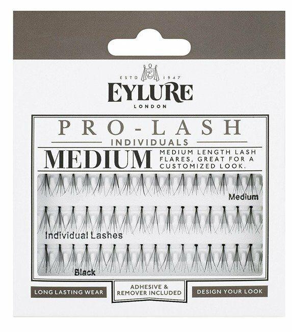 Eylure Pro-Lash Medium Individuals Black Sztuczne rzęsy w kępkach czarne