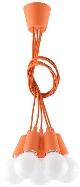 Lampa wisząca DIEGO 5 pomarańczowy - Sollux