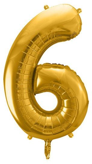 Balon foliowy 6 złoty 86cm 1szt FB1M-6-019