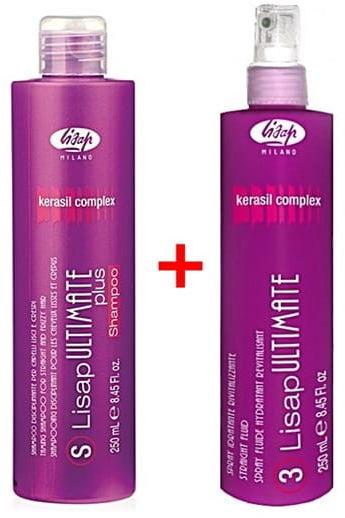 Lisap Ultimate zestaw wygładzjący szampon + fluid 2x250ml