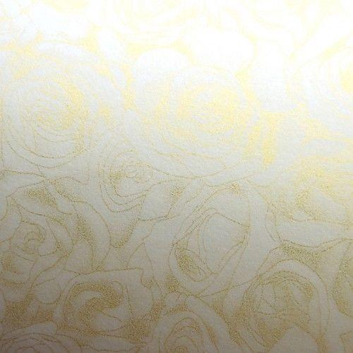 Papier ozdobny Róże krem 100g/m2 - opk 50ark/A4
