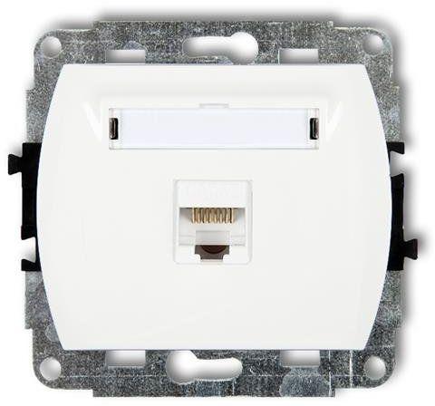 Mechanizm gniazda komputerowego pojedynczego TREND biały GK-1