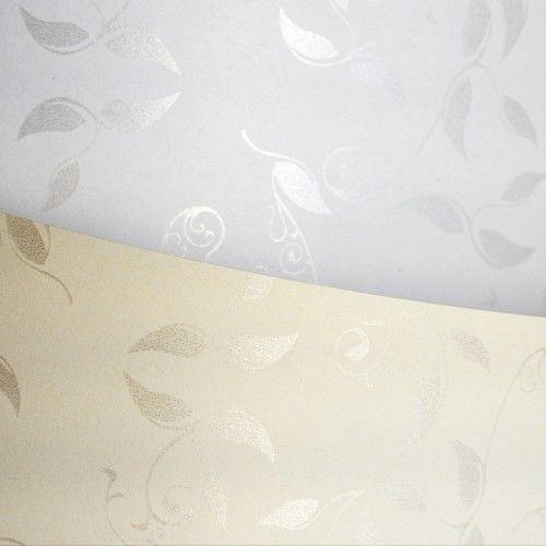 Papier ozdobny Liana krem 100g/m2 - opk 50ark/A4