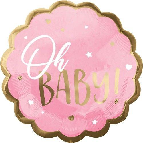 Balon foliowy OH BABY, różowy, duży