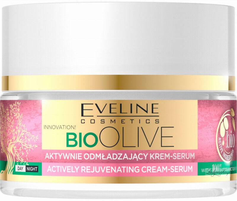 Eveline Cosmetics - BIO OLIVE - ACTIVELY REJUVENATING CREAM-SERUM - Aktywnie odmładzający krem / serum do twarzy - Dzień / Noc - 50 ml