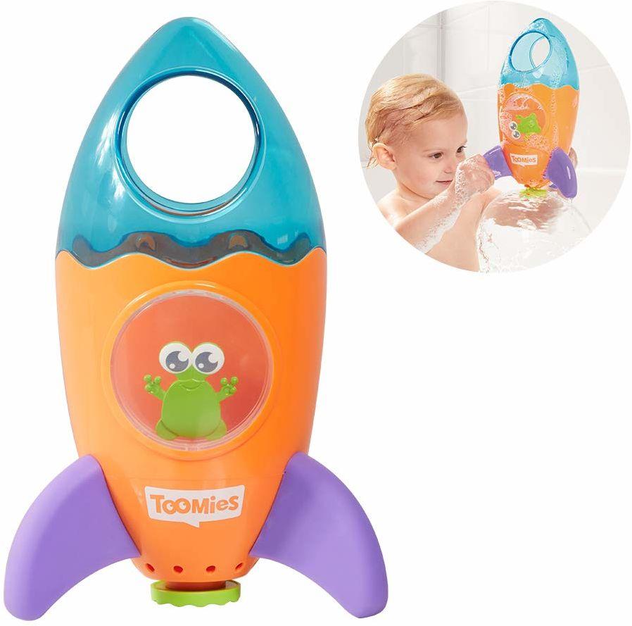 TOMY E72357C fontanna rakieta  zabawna zabawka wodna do wanny, basenu lub basenu do przyzwyczajenia się do wody dla dzieci od 12 miesięcy