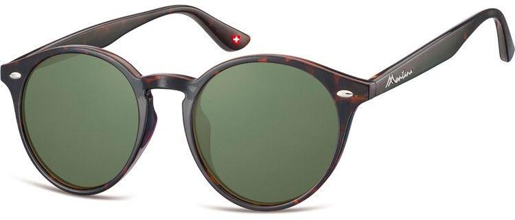Okulary okrągłe brązowe (panterka) lenonki S20C