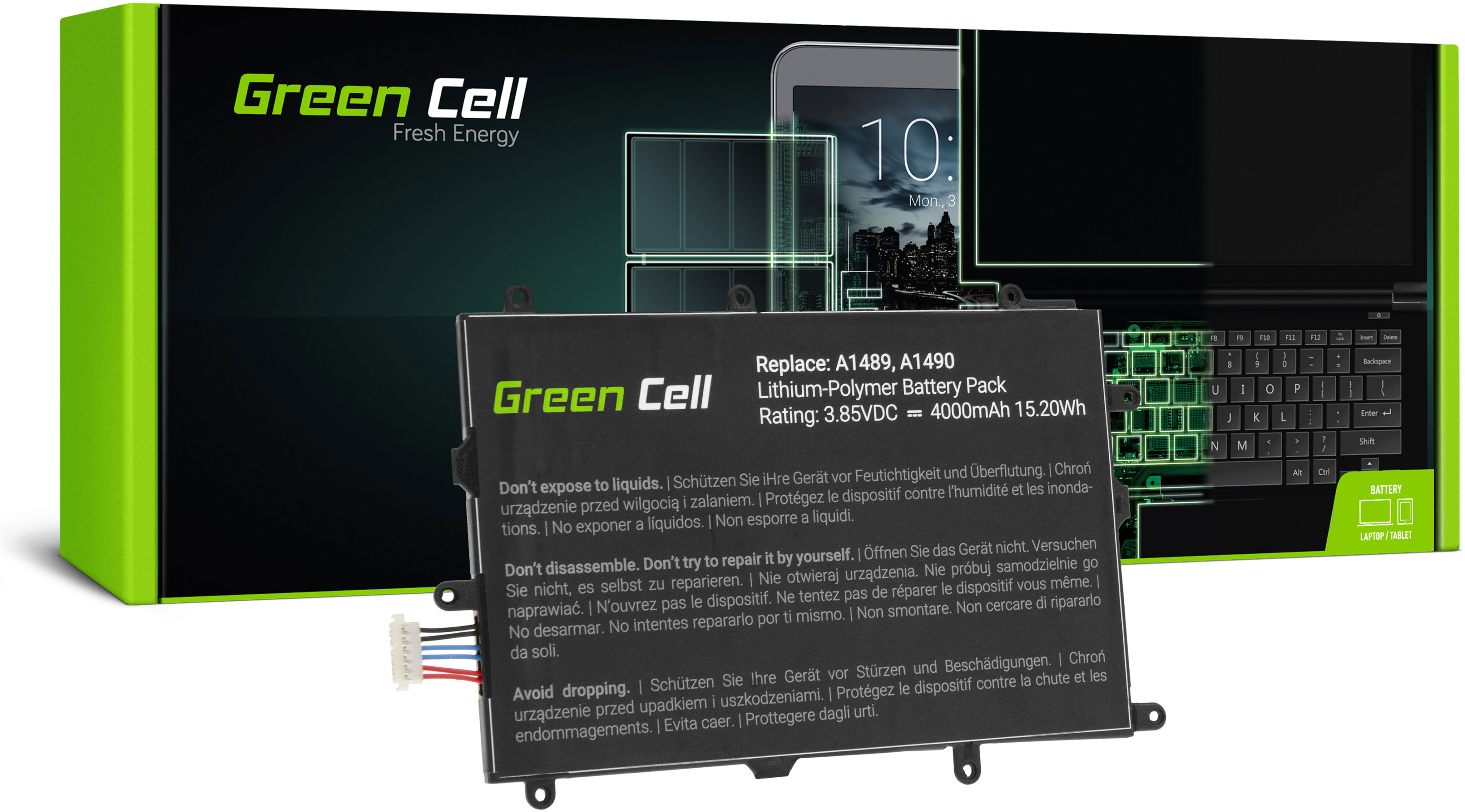 Bateria Green Cell SP4073B3H do Samsung Galaxy Tab