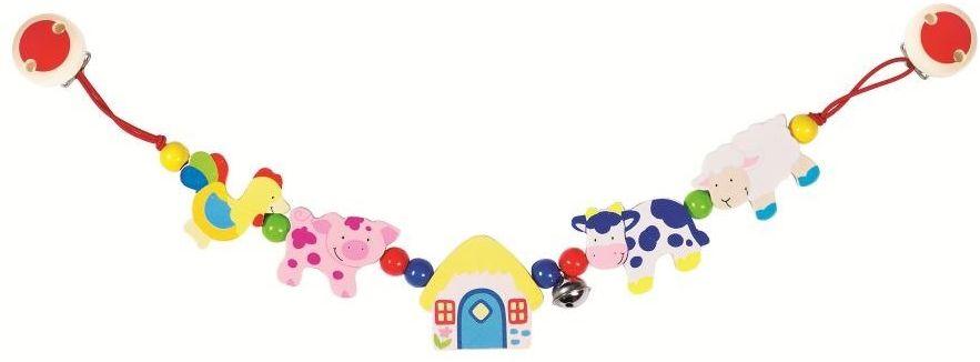 Na farmie - zabawka drewniana, 735310-Heimess, zabawki do wózka, dla niemowlaków