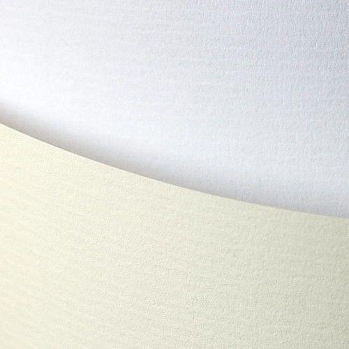 Papier ozdobny Laid biały 120g/m2 - opk 50ark/A4