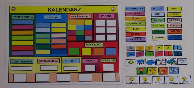 Mój pierwszy kalendarz kolorowy