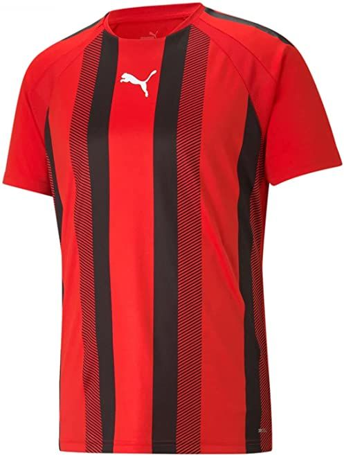 PUMA Koszulka męska Teamliga Striped Jersey Puma Red-puma Black-puma White M