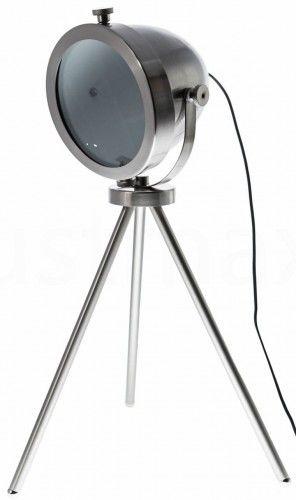 Lampa stołowa TRIQ LS-MT1427 Auhilon oświetlnie o wyjątkowym kolorze niklu